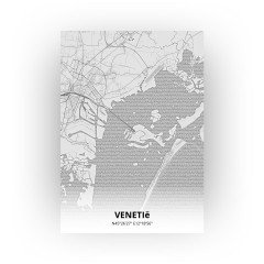 Venetië print - Tekening stijl