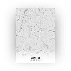Wortel print - Tekening stijl