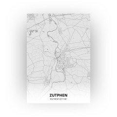 Zutphen print - Tekening stijl