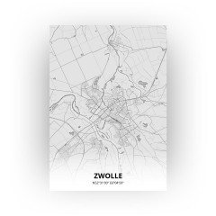 Zwolle print - Tekening stijl